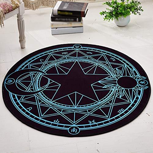 Jiamuxiangsi tapijten Vintage Magic Array tapijt bureaustoelmat rond dik tapijt antislip woonkamer tapijten & pads