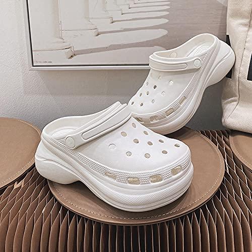 clogs niño,Zapatos de la playa de la moda del verano de la moda de los zapatos de la playa de la moda del verano del alto tacón de la playa de las sandalias de la parte inferior del muffin Sandalias