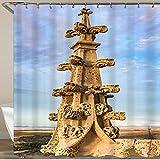 FOURFOOL Cortinas de Ducha,Detalle arquitectónico de una Aguja de la Catedral gótica de Segovia (España),Impermeable Cortinas Baño y Lavables Cortinas Bañera 180x180CM