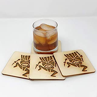 Coasters for Drinks | Tiki Totem Witch Doctor (4-Piece Set) - Drink Coaster - Decor 11799
