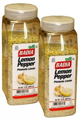 Badia Lemon Pepper. 1.5 pounds container. Pack of 2