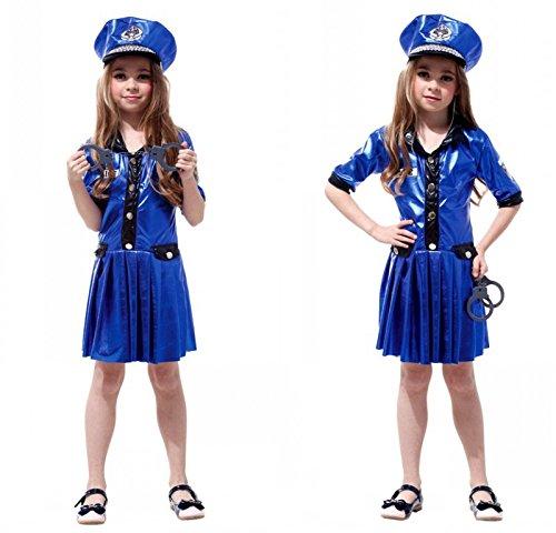 xinyouzhihi Cosplay Weihnachten Kinderkostüme Polizeiuniformen Mädchen Polizei Kostüme Halloween