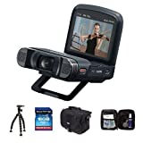 Canon VIXIA MINI-X Full HD Camcorder - Bundle with Lowepro REZO 50 Compact Case, 8GB Class 10 SDHC Memory Card, Sunpak FlexPod Pro Gripper, Cleaning Kit