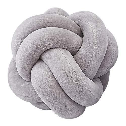 CURTT Knot Ball Cushion Office Waist Back Cushion Baby Nap Pillow Stuffed Dolls Toys For Kids Store Decoration Knot Ball Cushion(Grey)