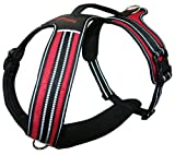 Voyager Adventure No Pull Harness for Dogs w/Two Leash Attachment Rings - Reflective Walking Vest, Best Pet Supplies, Medium, Red