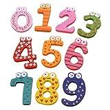 AGLKH Número Imanes de Nevera de refrigerador Figura Stick Matemáticas Juguetes educativos de Madera para niños para niños 10pcs / Set, 10pcs