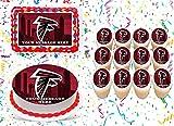 Atlanta Falcons Cake Topper Edible Image Personalized Cupcakes Frosting Sugar Sheet (2' Cupcakes (12))