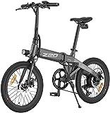 Himo Z20 - Bicicleta eléctrica plegable para bicicleta eléctrica superdinámica, doble modo e-bici 250 W, moto HD LED, escenario de ciudad/parque bicicleta