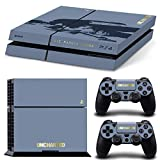Adventure Games - PS4 ORIGINAL - Uncharted, Limited Edition - Playstation 4 Vinyl Console Skin Decal Sticker + 2 Controller Skins Set