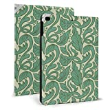 Coque pour iPad avec motif artistique et feuilles dessinées à la main Style Nouveau Coque fine et...
