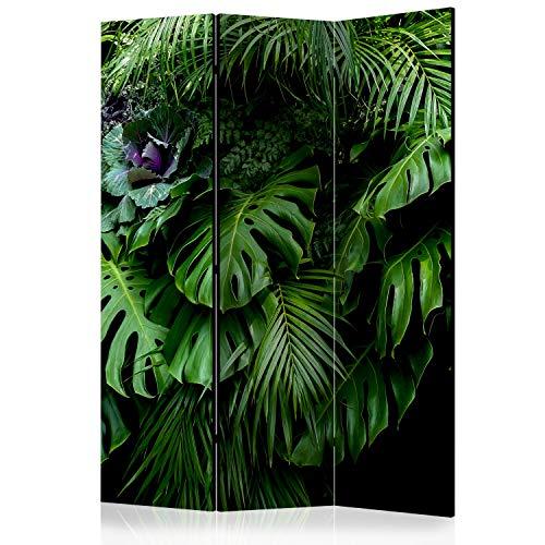 murando Raumteiler Foto Paravent Tropisch 135x172 cm einseitig auf Vlies-Leinwand Bedruckt Trennwand Spanische Wand Sichtschutz Raumtrenner Home Office Monstera b-B-0331-z-b