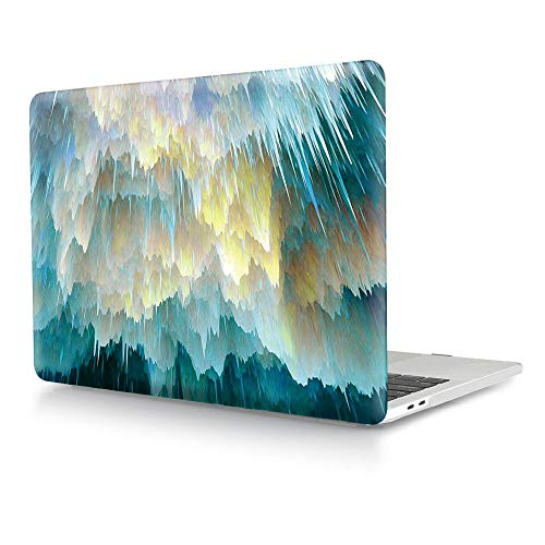 HRH Ombre Yellow Green Design Laptop Body Shell Protective Hard Case for Apple MacBook Newest Air 13' Inch with Retina Display fit Fingerprint Touch ID (Model A1932,2018 Release)