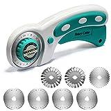 Cutter rotanti 6 Lame sostituibili per cucire, taglio tessuto, taglio carta, taglio pelle BO005 (Lame 45 mm)