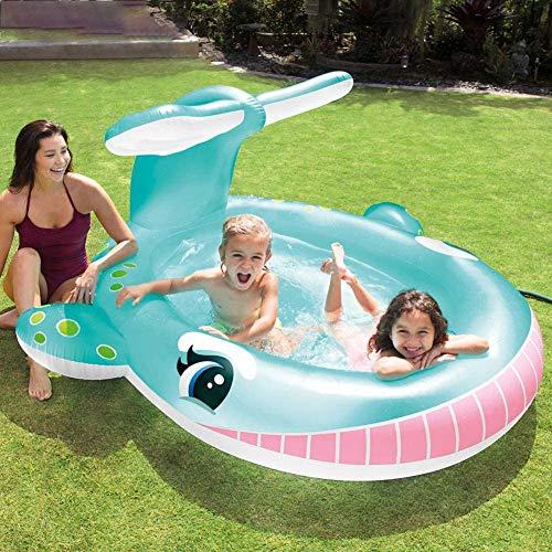 TANERDD Piscina Inflable para bebés Piscina Inflable Sun Shade, con inflador de Aire eléctrico para la diversión al Aire Libre del jardín para niños niños