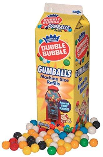 Dubble Bubble Gumballs Nachfüllpackung, 4er Pack (4 x 454 g)