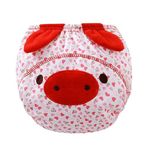 T TOOYFUL Belle Infant Toddler Kid Bébé Tissu Couche Couche Couvercle Pantalon De Formation De Toilette Nappy - cochon, 80 (11 kg)