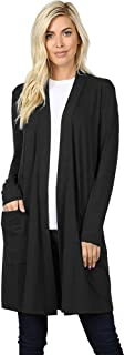 Linda Knit Long Sleeve Open Front Pocket Cardigan