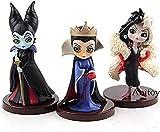 Personajes QPosket Q Posket Little Villains Malicious Evil Queen Cruella De Vil PVC Figure Collectible Model Toy 3pcs. / Set