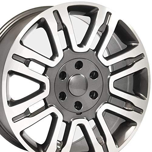 OE Wheels LLC 20 inch Rim Fits Ford Expedition Wheel FR98 20x8.5 Gunmetal Mach'd...