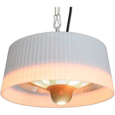 FAVEX - Chauffage Sirmione Suspendu Blanc - Electrique - Extérieur - Jusqu'à 8 m² - 74 x 74 x 33,5 cm