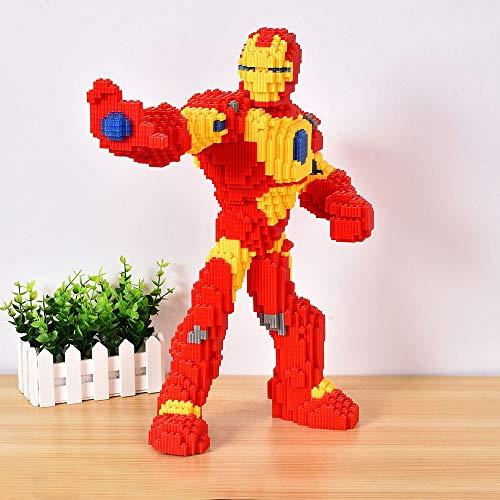 Khosd Conjuntos De Arquitectura Modelo 3D Diamante Mini DIY Micro Edificio Nano Bloques Ladrillos Juguete para Niños Regalos Educativos Regalo De Cumpleaños Nanoblock Iron Man Model