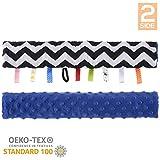 Dearjoice | Copri maniglia passeggino universale | Certificato OEKO-TEX ecocompatibile e sicuro | Double face 100% cotone + Morbido tessuto MINKY | MADE IN EUROPA