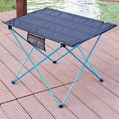 WNN-URG Mesa Plegable portátil Camping Muebles de Exterior Mesas de Muebles Picnic 6061 Alloy de Aluminio Escritorio Plegable URG (Color : 56x43x38cm Blue)