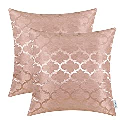 Silky pillows in pink colors.