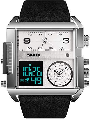 JIAJBG Hombres Deportes Masculinos Relojes Ejército Moda Militar Digtial Reloj Cronómetro Alarma Impermeable Corrientes de Los Hombres de la Muñeca Del Reloj Del Reloj regalo de vac
