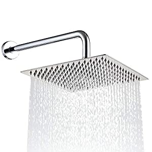 """Alcachofa ducha cuadrada de 8 """"/20cm Alcachofas fijas para ducha de acero inoxidable 304 alcachofa ducha alta presión…"""