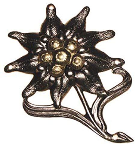 Original Bundeswehr Barettabzeichen Gebirgsjäger Edelweiß aus Metall Größe 55 x 35 mm