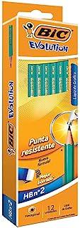 BIC Evolution Original Hb Graphite Pencils With Eraser End Box of 12