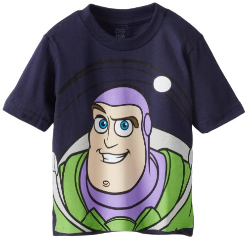 Disney Little Boys' Buzz Lightyear Toddler tee, Navy, 4T