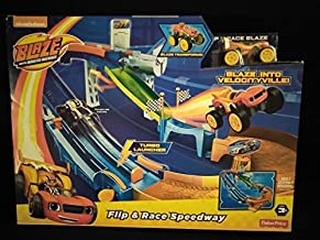 Blaze And The Monster Machines Flip & Race Speedway New In Unopened Box: Includes Turbo Launcher and Turbo Flipper Transforms Blaze Into Racecar