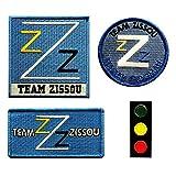 Team Zissou Life Aquatic LogoTraffic Light Frogman Ballcap Costume Patch [Bundle 4PC Iron Sew on]