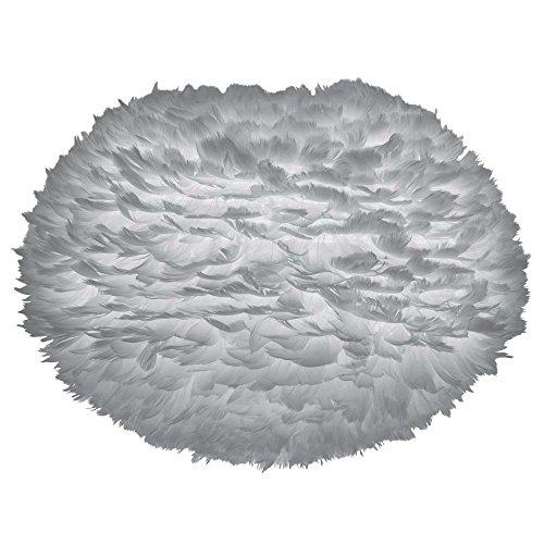 Vita Umage EOS Large Abat-jour en plumes d'oie Gris clair Diamètre 65 cm Hauteur 40 cm