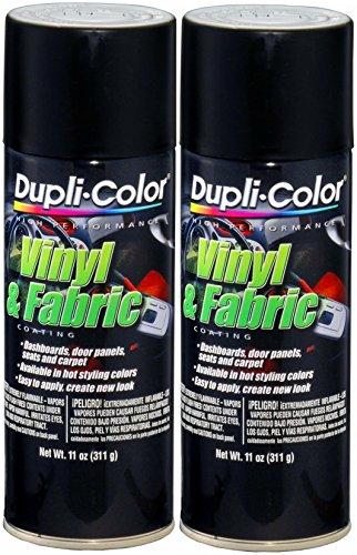 Dupli-Color HVP106 Flat Black Vinyl & Fabric Coating 11 oz. Aerosol (2 PACK)