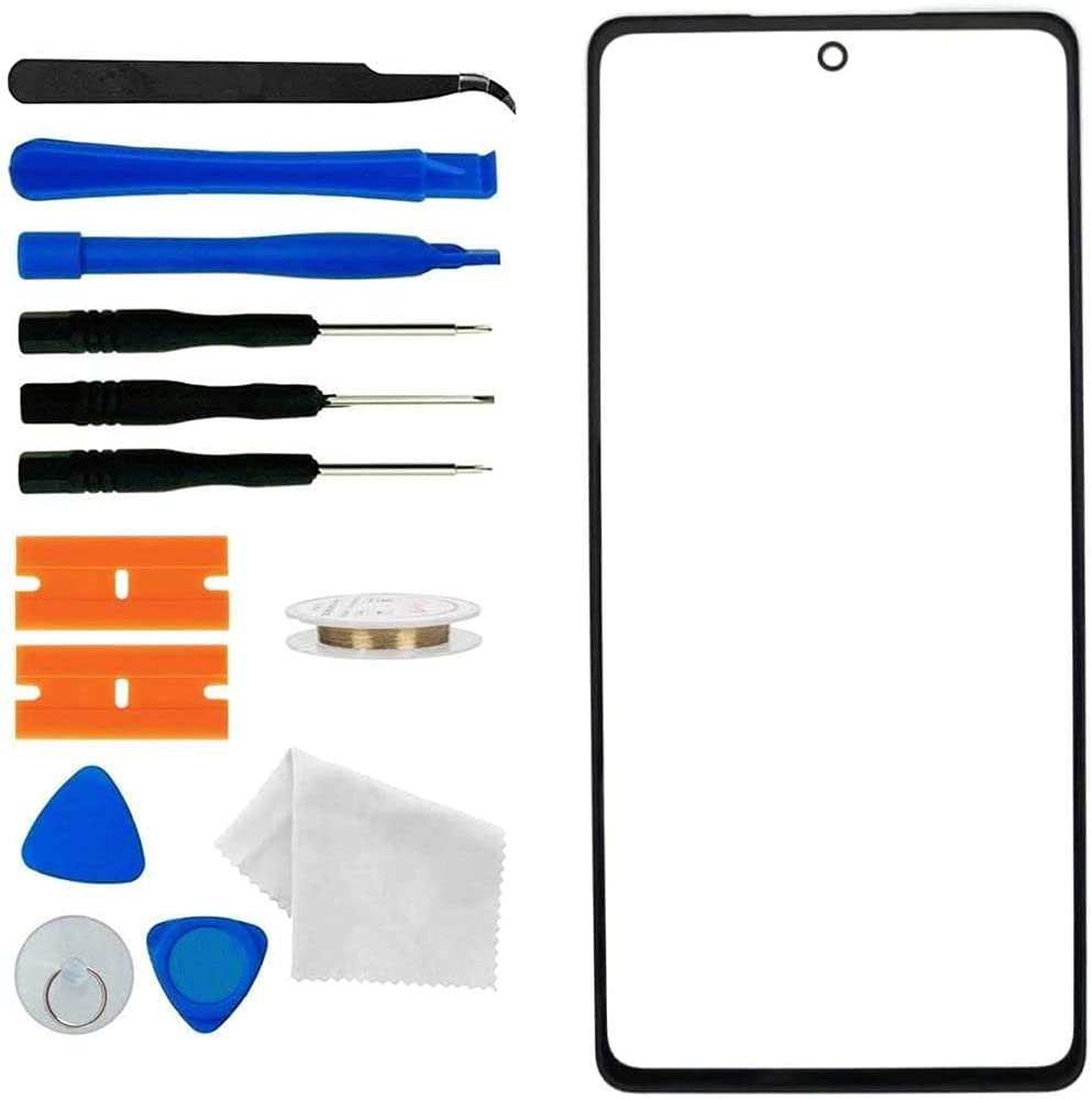 Original Front Glass Replacement Compatible with Samsung Galaxy S21 Ultra 5G 6.8 inch Display Screen incl Tool Kit (Galaxy S21 Ultra 6.8''- Black)
