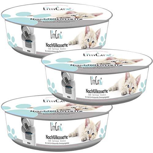 Littycat Nachfüllkassetten Katzenstreuentsorgungseimer - 3er Pack (3er Pack)