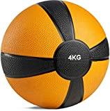 POWRX - Balón Medicinal 4 kg + PDF Workout (Orange)