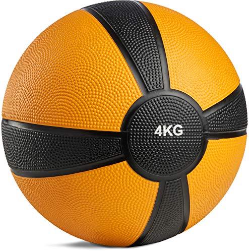 POWRX Medizinball Gewichtsball 1-10 kg | versch. Farben (4 kg)