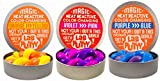 JA-RU Lab Putty Color Changing Heat Sensitive (3 Pack, Assorted) Best Thinking Smart Crazy Stress Putty with Tin, Sensory Toy Stress Relief 9576-3A