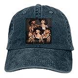 MERCHA Unisex Adjustable Washed Dyed Baseball Caps Fifth Harmony Reflection Snapback Sun Visor Dad Hat Navy