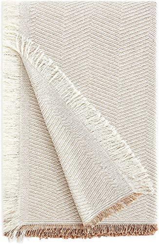 Energy Colors Textil Hogar - Bahia - Colcha Multiusos Cama Sofá Plaid Fabricado España (Beige, 180_x_260_cm)