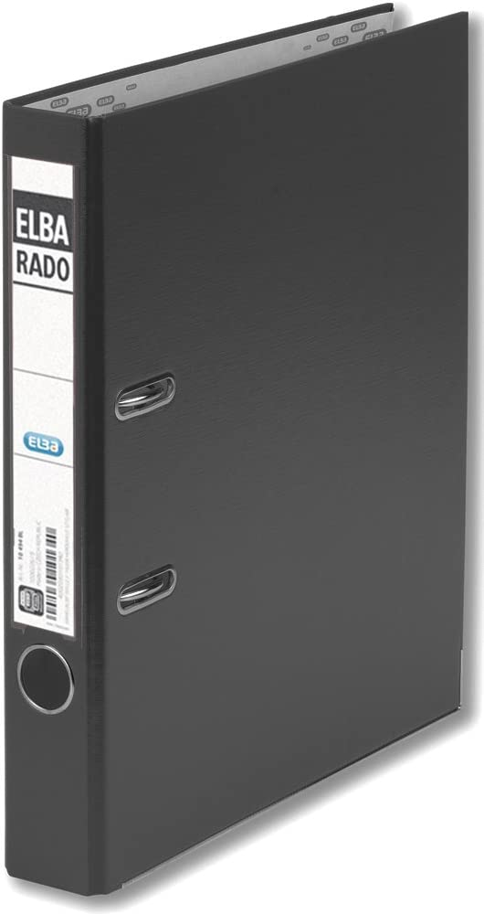 Elba Lever Arch File National uniform free shipping At the price of surprise Rado Plast 50 Black A4 Pvc Bla Mm For