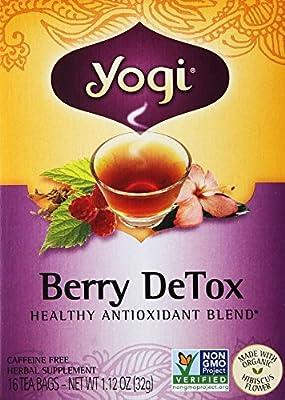 Yogi Herbal Tea Berry DeTox, Caffeine Free,16 Tea Bags, 1.12 Oz from Setaf