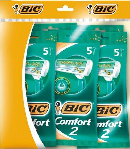 Bic Comfort 2 - Cuchillas de afeitar de doble hoja (25 unidades)