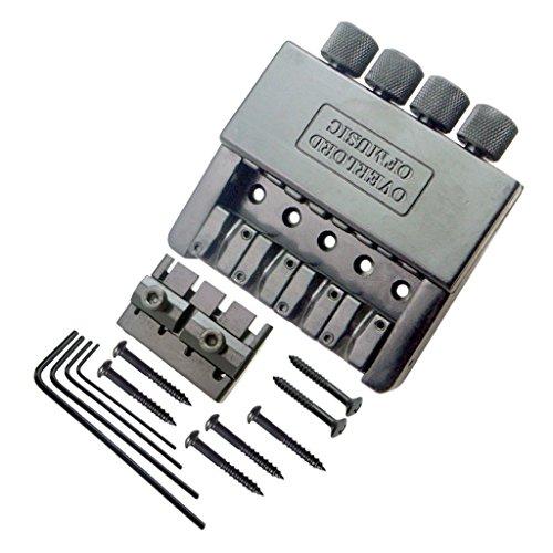 Tubayia 4 Saiten Bass Sattel Headless Bridge Saitenhalter mit Schrauben & Schraubenschlüssel für E-Bass Teile