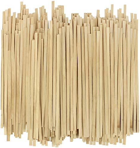 Disposable Wooden Coffee Stirrers - 5.5 Inch Stir Stick (1000, 5.5')