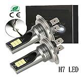 H7 LEDヘッドライトバルブ、55W 6000K ホウイト 12000LM非常に明るいCSPチップ変換キット360°発光 2年保証
